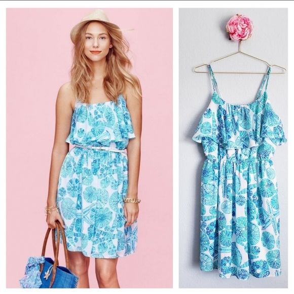 Lilly Pulitzer for Target satin flounce dress XS